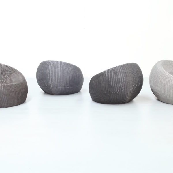 Pebble Chair in Silver