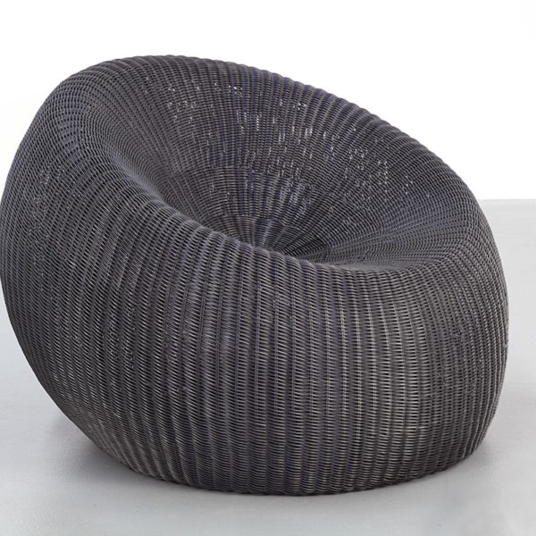 Black Synthetic Rattan