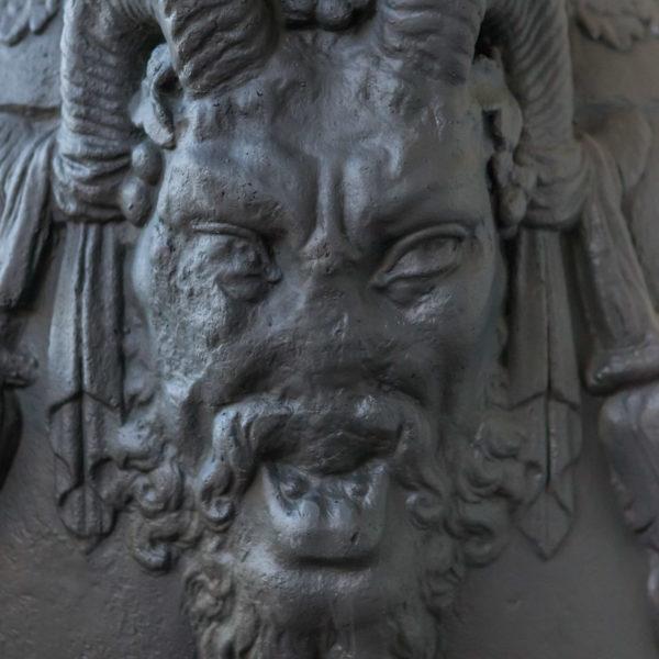 Parisian Urn on Pedestal with Griffin Detail