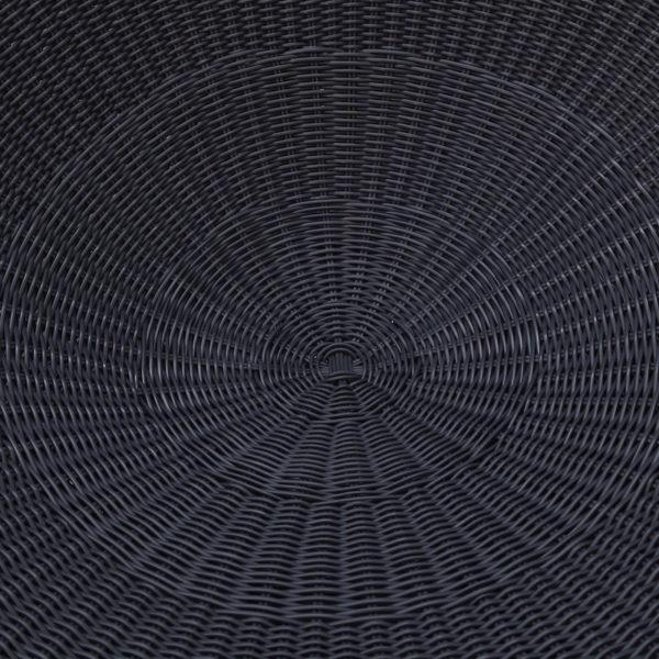 Black Synthetic Rattan
