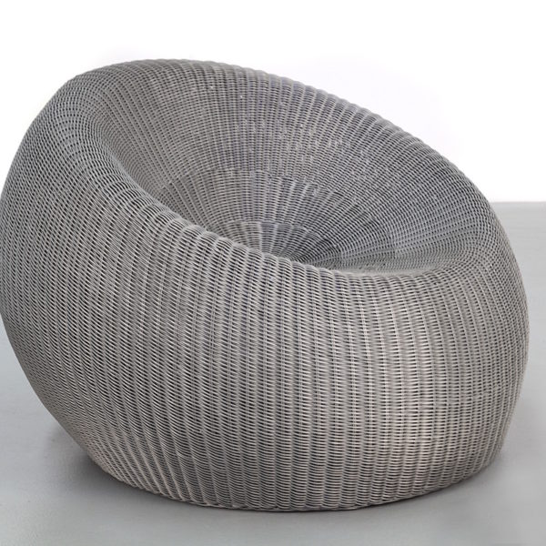 Silver Synthetic Rattan